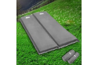 Weisshorn Self Inflating Mattress Camping Sleeping Mat Air Bed Pad Double Coffee 10CM Thick