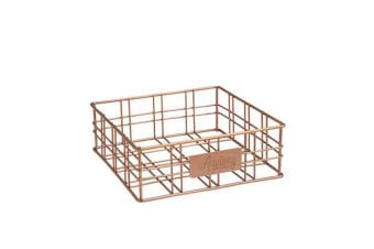 Academy Orwell Square Basket/Napkin Holder Copper 20x20x7cm