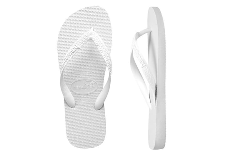 Havaianas Top Thongs (White, Brazil 37/38)