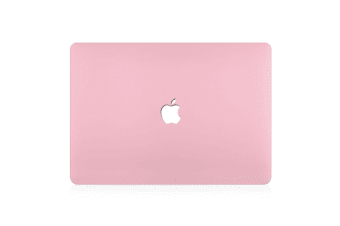 "Hard Case Cover for Apple Macbook Pro 13"" Inch  A1708-Matte Clear-Flamingo Pink"