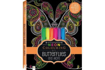 Neon Colouring Kit with 6 highlighters - Butterflies