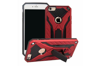 For iPhone 6 & 6S Case  Armour Strong Shockproof Tough Cover Kickstand  Red