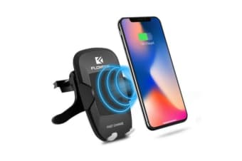 QI Wireless Charger With Vent Mount Cradle 10W Black