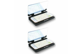 2x Xtreme Universal Heads Up Display Car Mount for Smartphones