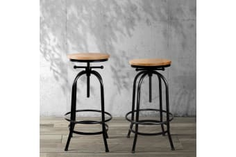 Vintage Bar Stools Retro Stool Industrial Kitchen Chairs Wooden