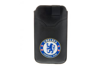 Chelsea FC Large Phone Pouch (Black) (One Size)