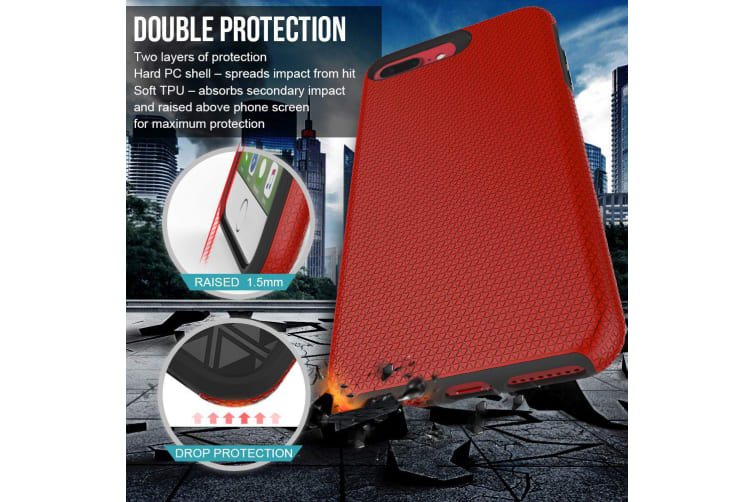 For iPhone 6 PLUS & 6S PLUS Case Red Armor Slim Light Protective Phone Cover