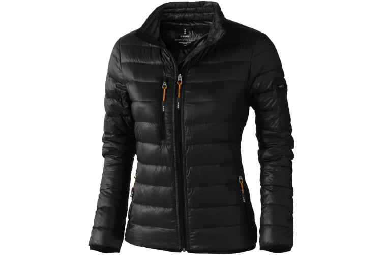 Elevate Womens/Ladies Scotia Light Down Jacket (Solid Black) (L)