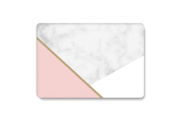 """Marble Frosted Matte Hard Case with Free Keyboard Cover for MacBook Pro 13"""" 2016-2018 A1708(no Touch Bar)-Tri-Colored Marble"""