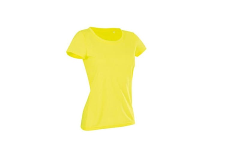 Stedman Womens/Ladies Active Cotton Touch Tee (Cyber Yellow) (XL)