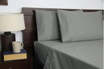 Apartmento Micro Flannel Sheet Set (Grey, King)