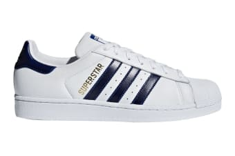 Adidas Originals Men's Superstar Shoe (White/Gold/Navy)