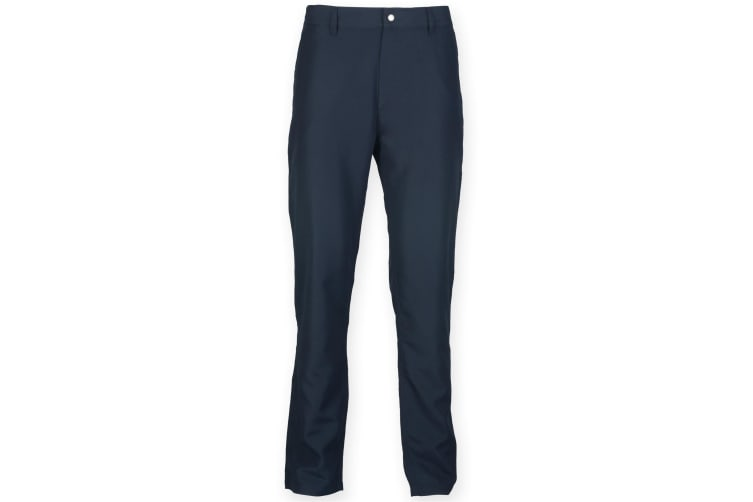 Finden & Hales Mens Zip Fly Sports Chino Trousers (Navy) (S)