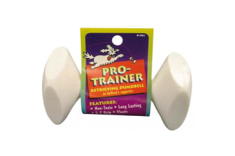 Pro Trainer Medium 12.5cm Dog Retrieving Dumbbell by Fido Floats, Non-Toxic, Vanilla