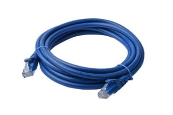 8Ware Cat6a UTP Ethernet Cable 30m Snagless Blue