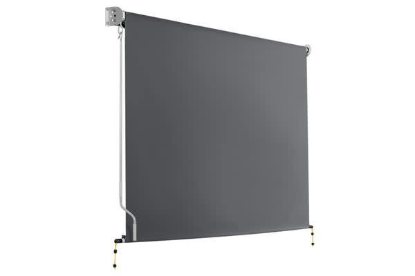 2.1m x 2.5m Retractable Roll Down Awning (Grey)