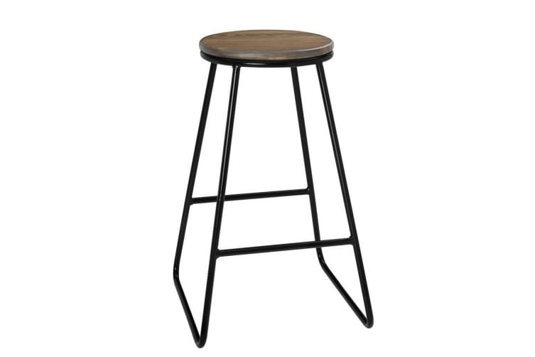 Artiss 4x Vintage Bar Stools Rustic Retro Bar Stool Industrial Kitchen Chairs