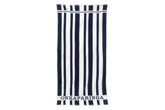 Onkaparinga Aldinga Stripe Beach towel (Navy)