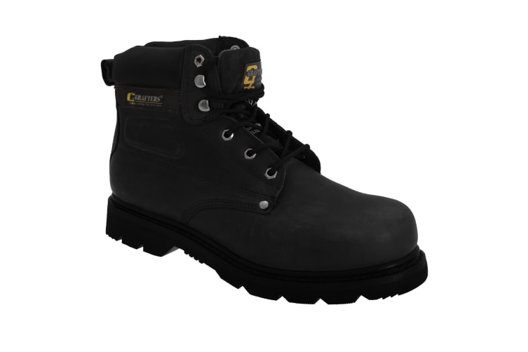 Grafters Mens Gladiator Safety Boots (Black) (14 UK)