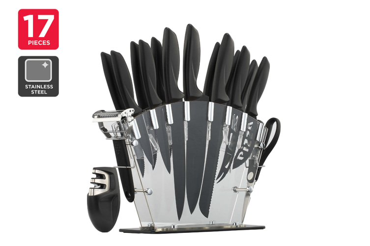 Ovela 17 Piece Professional Stainless Steel Knife Set