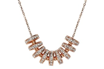 Mestige Crystal Whirl Pendant Necklace