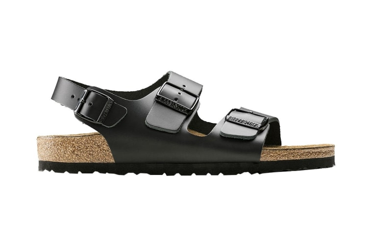 Birkenstock Unisex Milano Smooth Leather Regular Fit Sandal (Black, Size 40 EU)