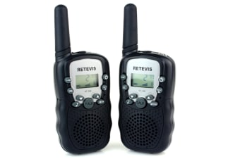 Retevis RT-388 22 Channel FRS/GMRS Rechargeable Walkie Talkies for Kids Black