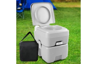 Weisshorn 20L Portable Outdoor Toilet with Carry Bag- Grey