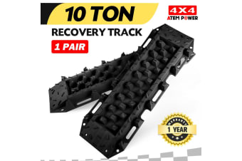 ATEM POWER Pair Recovery Tracks Sand Track 10T Sand Snow Mud Trax Black ATV Offroad 4WD NEW
