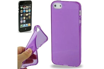 For iPhone SE 5S 5 Case Purple Transparent Durable High-Quality Shielding Cover