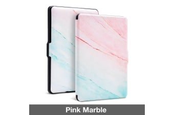 Quality Colorful Painting Leather Cover for Kindle Paperwhite 1/2/3-Pink Marble