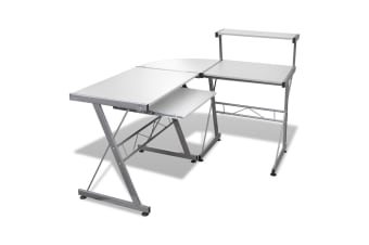 Three-piece Computer Desk (White)