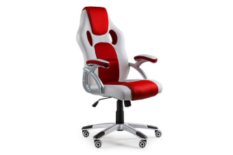 OVERDRIVE Racing Office Chair- Seat Executive Computer Gaming Deluxe PU Leather