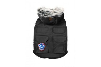 Canada Pooch Everest Explorer Touch Fastening Dog Jacket (Black) (18 inches)