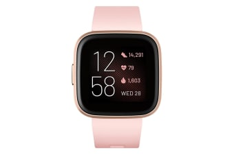 Fitbit Versa 2 Smart Watch - Petal/Copper Rose Aluminium