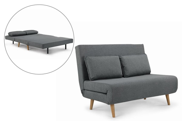 Ovela Jepson 2 Seater Sofa Bed (Slate Grey)