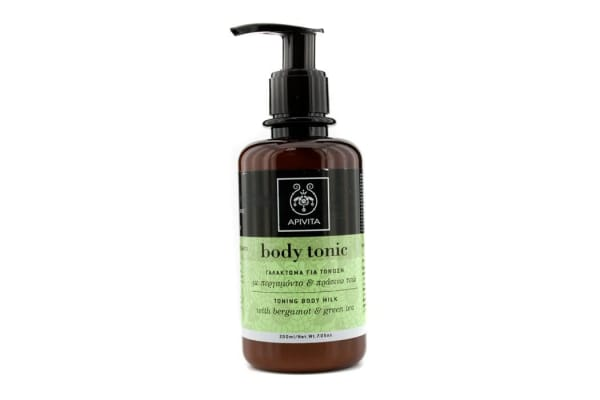 Apivita Body Tonic Toning Body Milk with Green Tea & Bergamot (200ml/7.05oz)