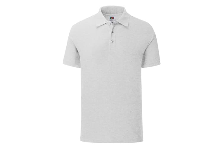 Fruit Of The Loom Mens Tailored Poly/Cotton Piqu Polo Shirt (Heather Grey) (XL)
