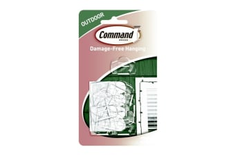Command Outdoor Light Clips (Pack Of 16) (Clear) (One Size)