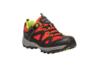 Regatta Childrens/Kids Gatlin Low Rise Hiking Boots (Chinese Red/Lime Punch) (UK Youth 1)