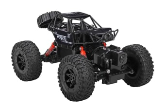 Remote Control Amphibious Kids Toy Car - Black (AC220B)