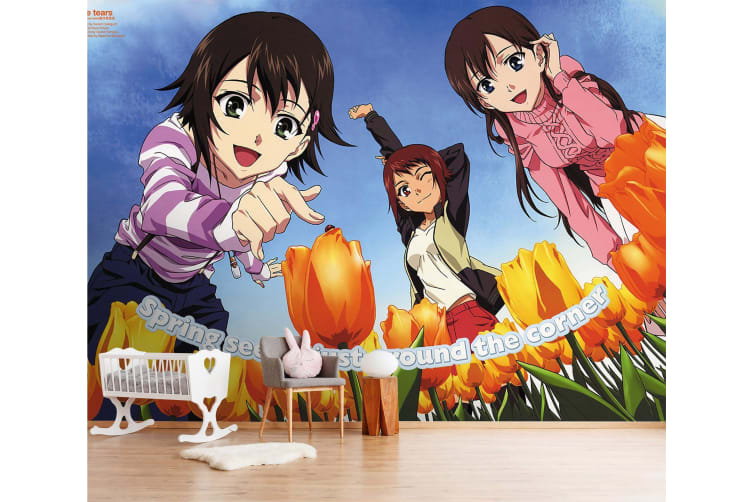 3D Flower Viewing 63 Anime Wall Murals Self-adhesive Vinyl, XXXL 416cm x 254cm (WxH)(164''x100'')