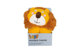 Bambury iSpy Hooded Kids Throw - 127 x 96cm - Lion