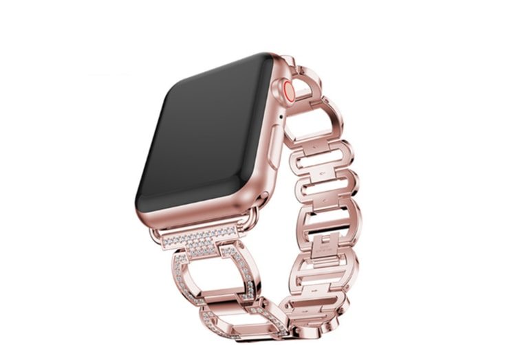 Bling Band Compatible Apple Watch Band For Iwatch Series 4 Rose Gold 40Mm