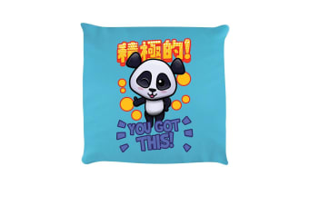 Handa Panda You Got This Cushion (Sky Blue)