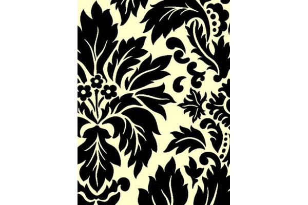 Stunning Black Off white Pattern Rug 330x240cm