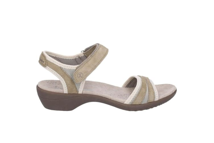Hush Puppies Womens Athos Touch Fasten Leather Sandals (Taupe) (4 UK)