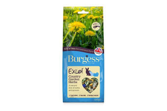 Burgess Excel Snack Country Garden Herbs Small Animal Food (6 Packs) (May Vary) (6 x 120g)