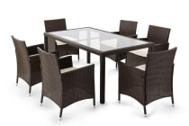Ovela 7 Piece Wicker Dining Table and Chairs