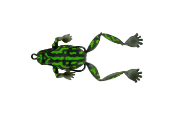 Chasebait Lures Bobbin Frog 40mm Double Hook Top Water Fishing Lure - Green Bell